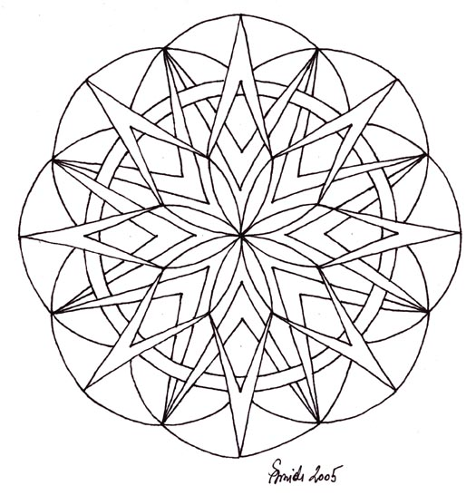 Simple Geometric Design Coloring Pages